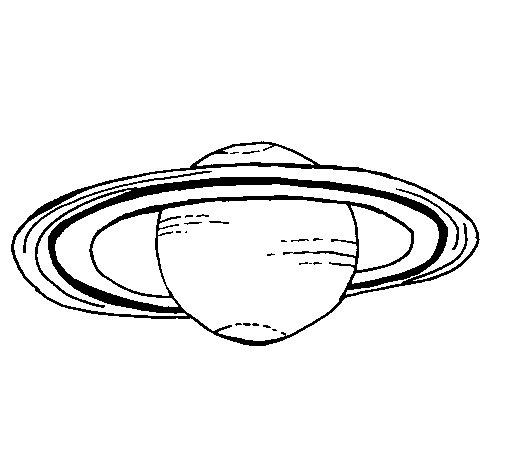 Saturn coloring page  Coloringcrewcom