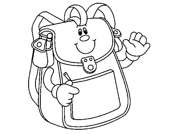 School Backpack coloring page - Coloringcrew.com