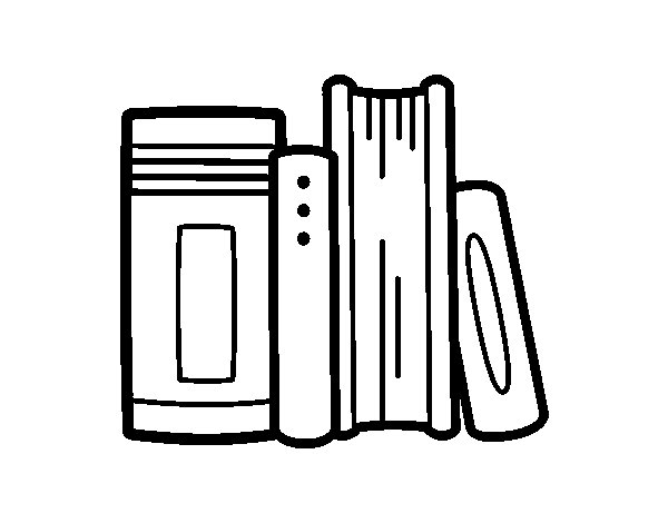 school books coloring page - Books To Color