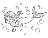 Sea Mermaid coloring page