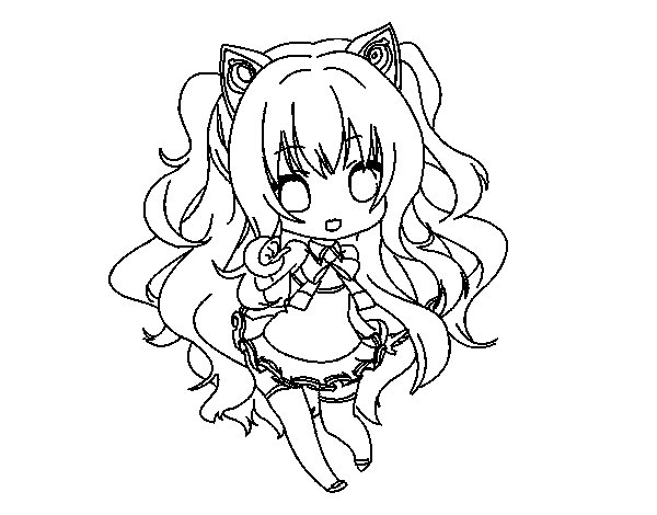SeeU Chibi Vocaloid coloring page