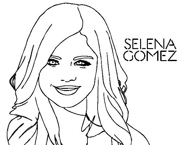 selena gomez smiling coloring page coloringcrew com