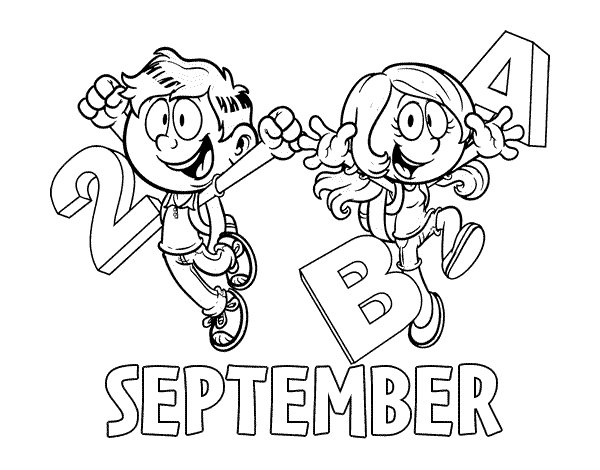september coloring pages - september coloring page