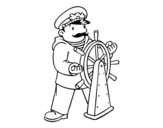 Ship's master coloring page