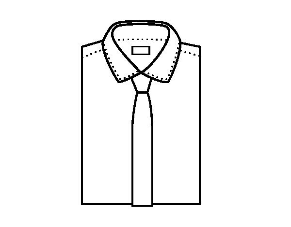 Shirt with tie coloring page for Necktie coloring page
