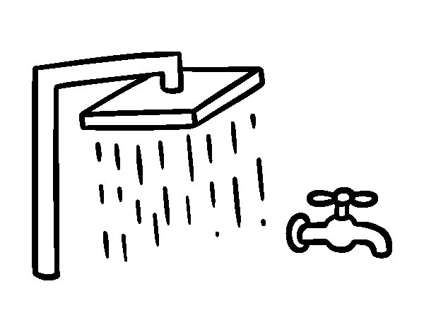 shower and bathroom faucet coloring page coloringcrewcom