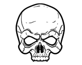 Skull mask  coloring page