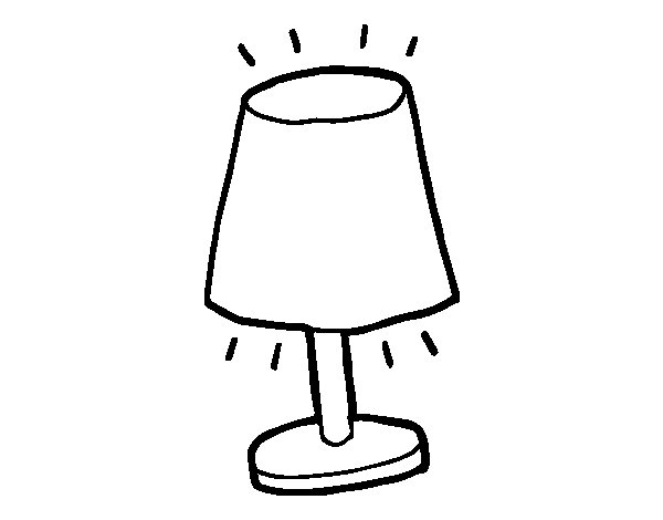 lamp shade coloring page