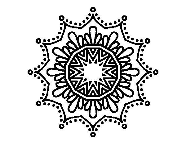 Mandalas De Animales Para Pintar Abstracto Pintar Tattoo: Snow Flower Mandala Coloring Page