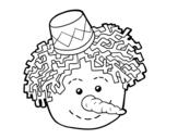 Dibujo de Snowman face