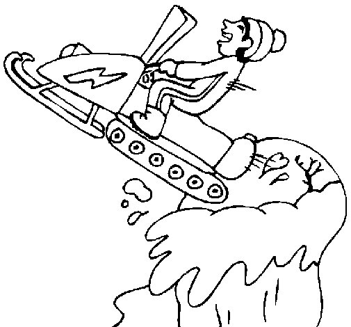 snowmobile coloring pages - photo#24
