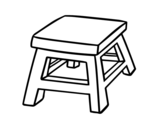 Square stool coloring page