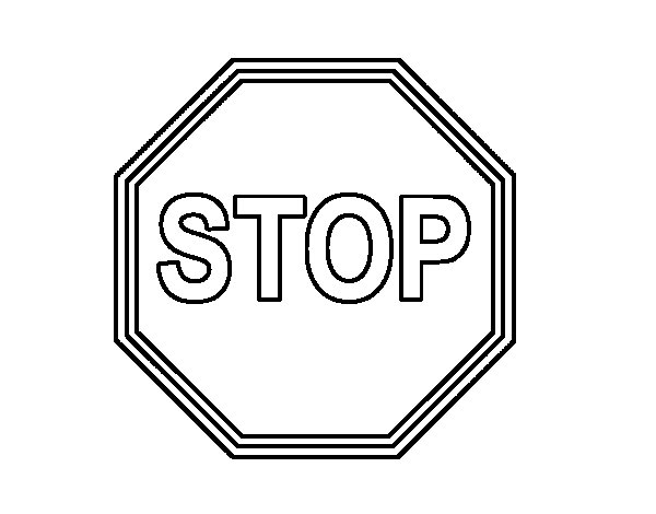 Stop Sign Coloring Book Pages