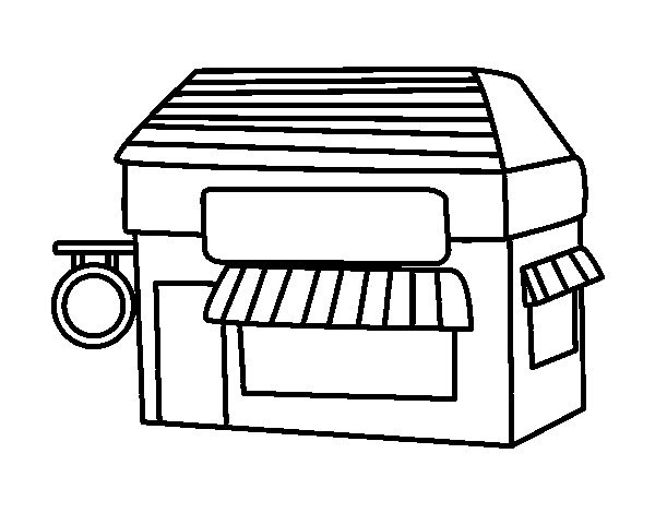supermarket coloring pages - photo#26