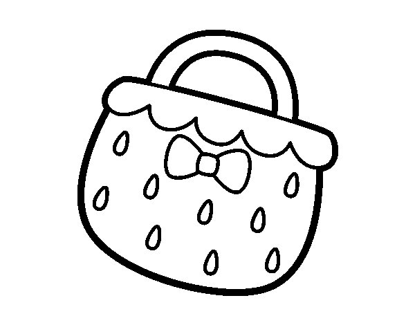 Strawberry handbag coloring page