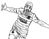 Suárez celebrating a goal coloring page