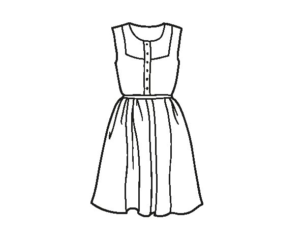 Summer dress coloring page  Coloringcrewcom
