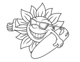 Sun Surfer coloring page