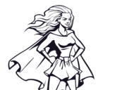 Super girl coloring page