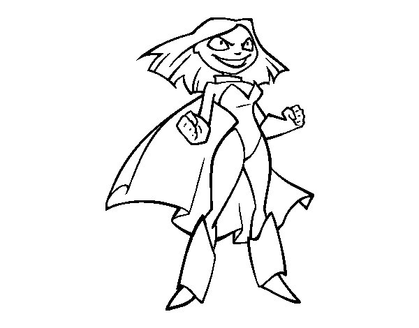 Super Little Girl coloring page - Coloringcrew.com