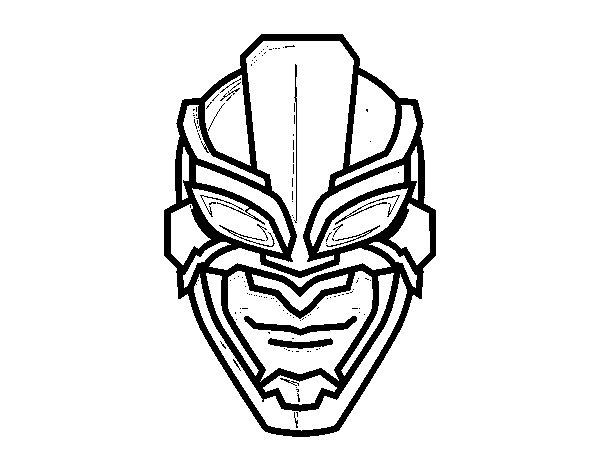 Superhero Mask Coloring Page