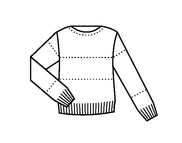 Sweater coloring page - Coloringcrew.com