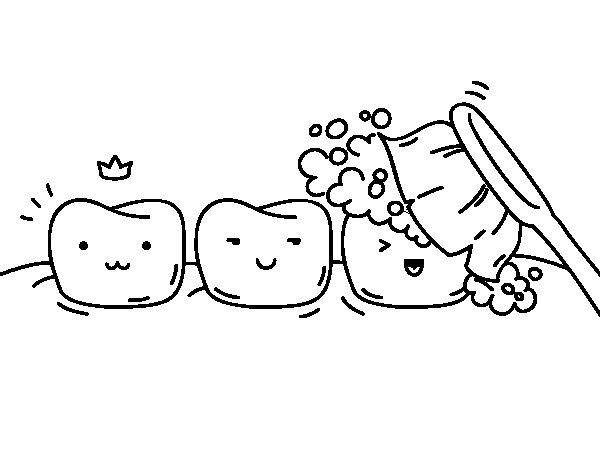 teeth coloring page coloringcrew com