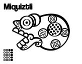 The Aztecs days: the Death Miquiztli coloring page