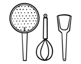 The cookware coloring page
