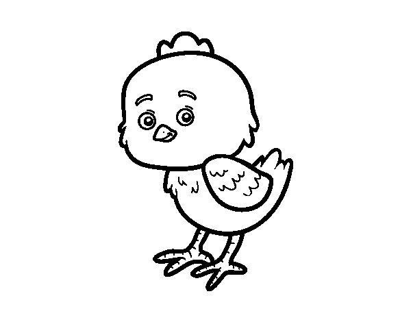 The Little Chick Cheep coloring page