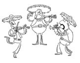 The Mariachis coloring page
