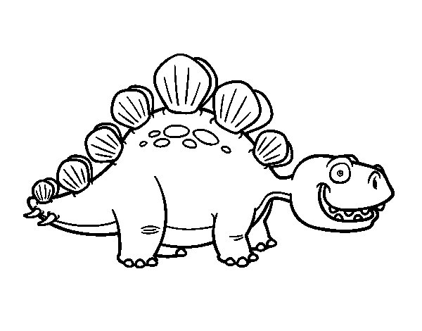 The Stegosaurus coloring page Coloringcrewcom