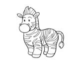 Dibujo de The  zebra