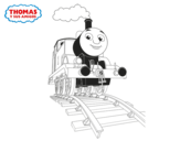 Thomas up coloring page
