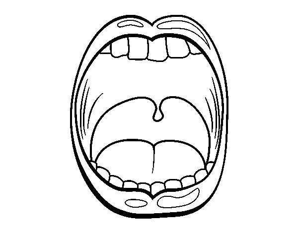 coloring pages for tongue teeth - photo#32