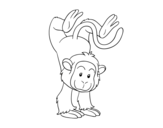 Tightrope monkey coloring page