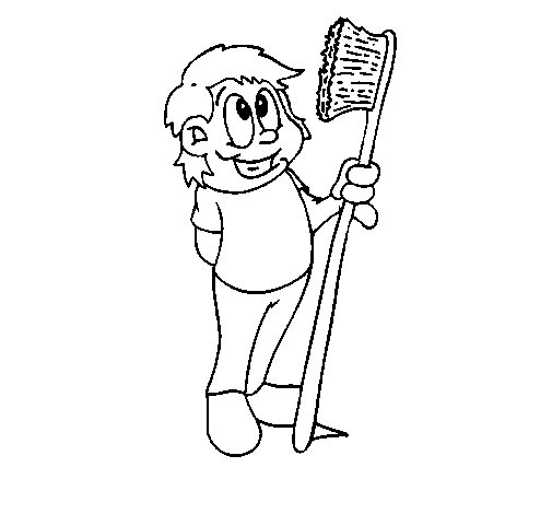 Toothbrush coloring page - Coloringcrew.com