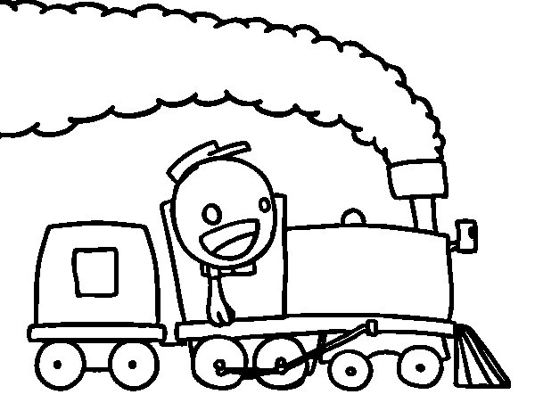 free coloring pages of train box car