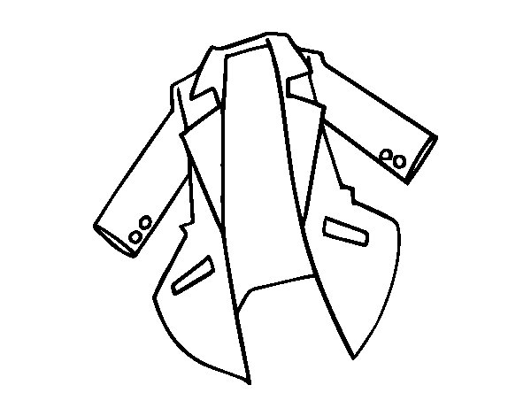 coat coloring page coloring pages Vest Coloring  Coat Coloring