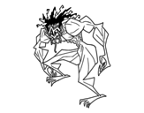 Troll man coloring page