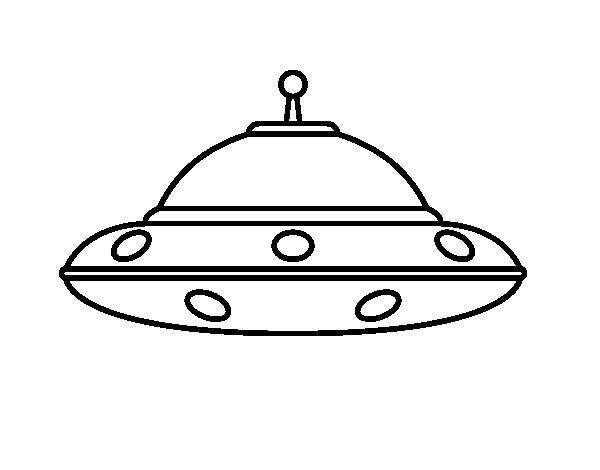 UFO Alien Coloring Page