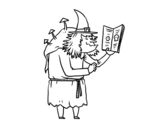 Ugly witch coloring page