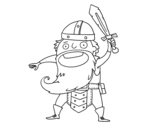 Viking attack coloring page