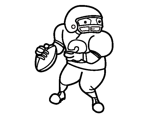 wide receiver football coloring pages - photo#18