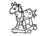 Wooden horse coloring page