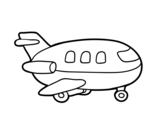 Wooden Plane coloring page
