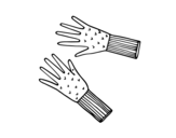 Wool gloves coloring page