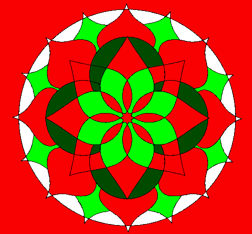 Coloring page Mandala 14 painted bylynn