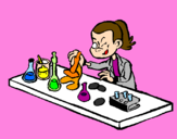 Coloring page Lab technician painted byLetícia