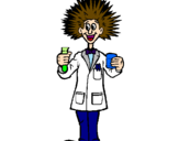 Coloring page Mad scientist painted byLetícia